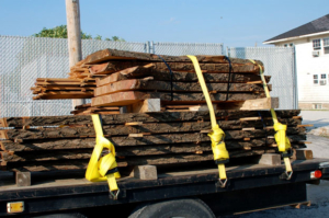 slabs on truck ready to be urban forest products