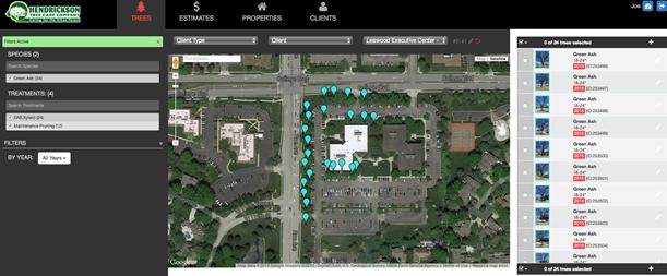 Tree Inventory software by Hendrickson Tree Care